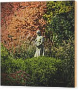 Time In The Garden Wood Print