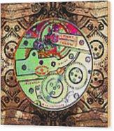 Time Machine 20130606 Square Wood Print