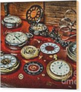 Time - Pocket Watches  Wood Print by Paul Ward