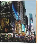 Time Square 2 Wood Print