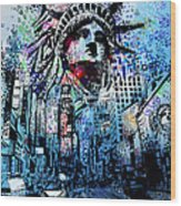 Times Square 2 Wood Print