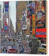 Time Square New York 20130503v4 Wood Print