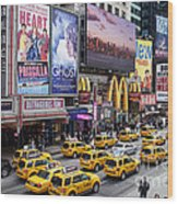 Time Square On A Week Day Wood Print