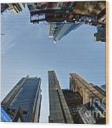 Time Square Sky View Wood Print