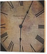 Time Stands Still For No One Wood Print