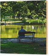 Time To Relax Wood Print