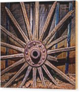 Time Worn Wheel Wood Print