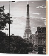 Timeless Eiffel Tower Wood Print