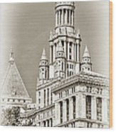 Timeless- New York City Hall Wood Print