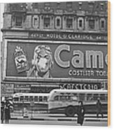 Times Square Advertising Wood Print