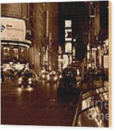 Times Square At Night - In Copper Wood Print