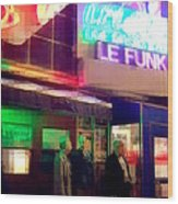Times Square At Night - Le Funk Wood Print
