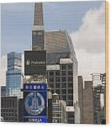 Times Square Color Wood Print