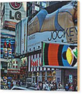 Times Square Energy Wood Print