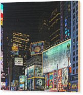Times Square In 2010 Wood Print