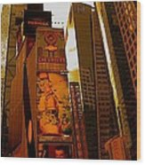Times Square In Manhattan Wood Print