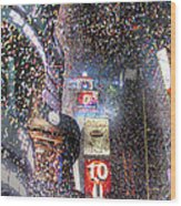 Times Square - New Years  Wood Print by David Yack