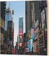 Times Square - New York I Wood Print