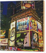 Times Square Wood Print by Svetlana Sewell