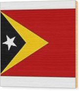 Timor-leste Flag Wood Print