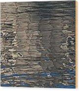 Tin Fishing Shack Reflection Wood Print