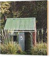 Tin Hut Wood Print