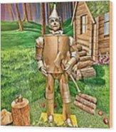 Tin Man Wood Print