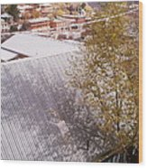 Tin Roof Wood Print