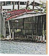 Tin Roof Rusted Wood Print