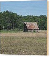 Tin Roofed Barn  Wood Print
