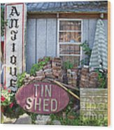 Tin Shed Apalachicola Florida Wood Print