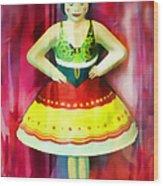 Tin Toy Ballerina Wood Print
