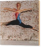 Shelly Ballet Jump Wood Print