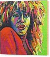 Tina Turner Wood Print