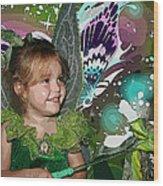 Tinkerbell Wood Print by Ellen Henneke