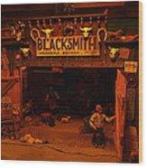 Tinkertown Blacksmith Shop Wood Print by Jeff Swan