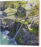 Tintagel Waterfalls Wood Print