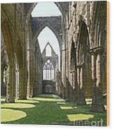 Tintern Abbey Nave Wood Print