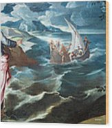 Tintoretto's Christ At The Sea Of Galilee Wood Print