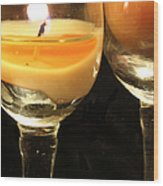Tiny Candle Wood Print
