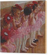 Tiny Dancers Wood Print by Jeanne Young