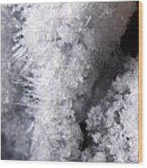 Tiny Ice Wood Print