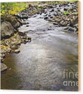 Tiny Rapids At The Bend  Wood Print