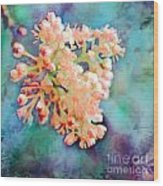 Tiny Spring Tree Blooms - Digital Color Change And Paint Wood Print