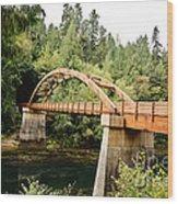 Tioga Bridge Over North Umpqua River Wood Print