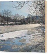 Tioughnioga River Landscape Wood Print