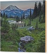 Tipsoo Meadows Wood Print