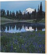 Tipsoo Reflection Tranquility Wood Print