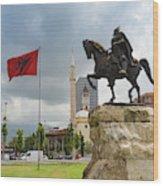 Tirana, Albania. Skanderbeg Square Wood Print