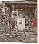 Tire And Battery Service Wood Print